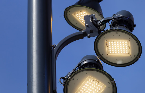 Multiple LED's Street Light Installation